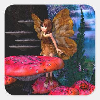 Fairy Glen Square Sticker