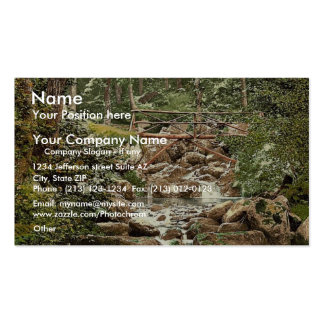 Fairy Glen Waterfall, the bridge, Penmaenmawr, Wal Business Card Template
