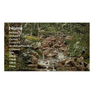 Fairy Glen Waterfall, the bridge, Penmaenmawr, Wal Business Card Templates