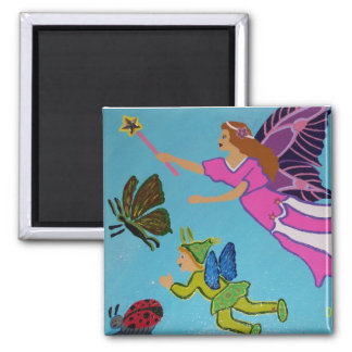 Fairy God Mother 2 Inch Square Magnet