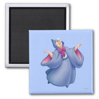 Fairy Godmother 2 Inch Square Magnet