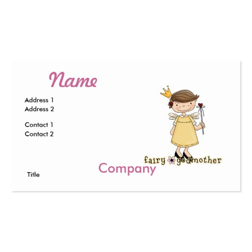 Fairy Godmother Business Card Template
