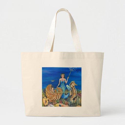 Fairy Godmother Mermaid Jumbo Tote Bag