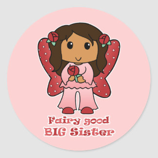 Fairy Good Big Sister Classic Round Sticker