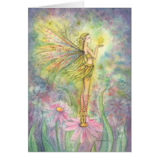 Fairy Greeting Card Golden Star