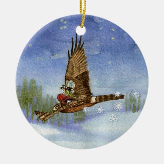 Fairy Hawk Christmas Ornament