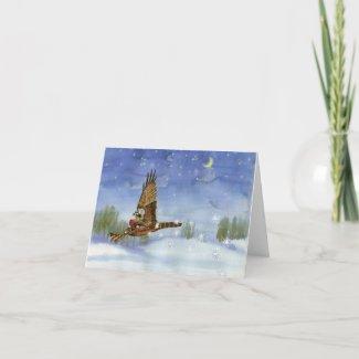 Fairy Hawk Christmas/Yule Card