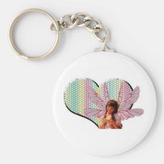 Fairy heart keychains