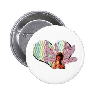 Fairy heart pinback button