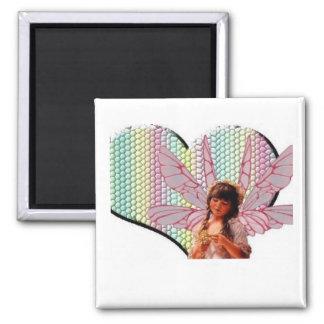 Fairy heart refrigerator magnet