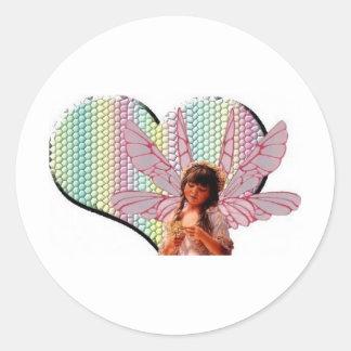 Fairy heart round sticker