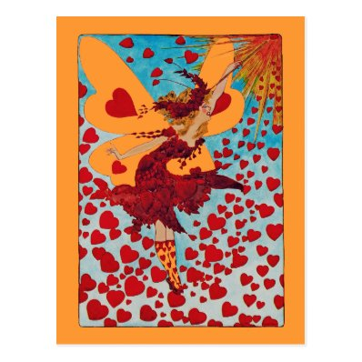 Fairy Hearts CHANGE COLOR ~ Postcard / Invitations