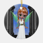 "Fairy ""Hera"" Greek Goddess Double-Sided Ceramic Round Christmas Ornament"