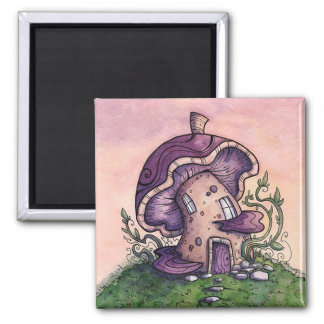 Fairy House Square Magnet from Unreal Estate