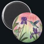 "Fairy Hummingbird Iris Magnet<br><div class=""desc"">A pretty fairy magnet!</div>"
