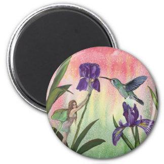 Fairy Hummingbird Iris Magnet