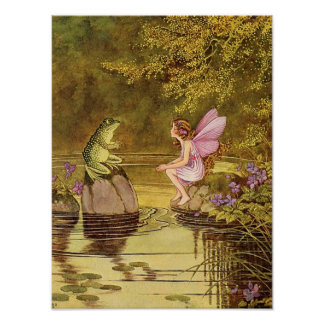 Fairy Illustration Fantasy Poster 12x16