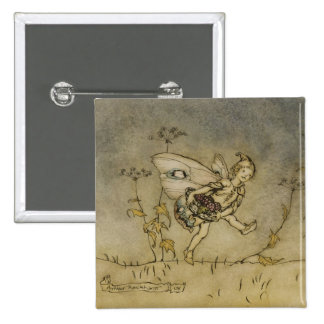Fairy, illustration from 'A Midsummer Night's Drea Pinback Button