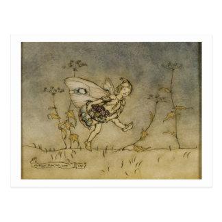 Fairy, illustration from 'A Midsummer Night's Drea Postcard