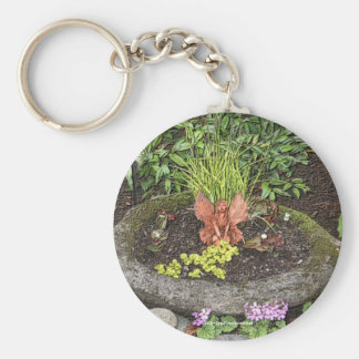 Fairy In A Garden Nature Photo Keychain