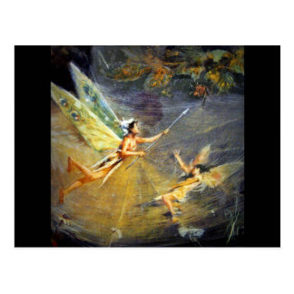 Fairy in a Spiderweb Postcard