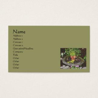 Fairy In Garden Nature Art Business Card