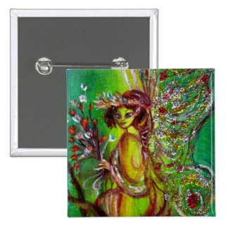 FAIRY IN GREEN PINBACK BUTTON