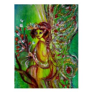 Fairy in Green Postcard