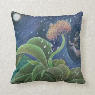 Fairy in Rain throw pillow