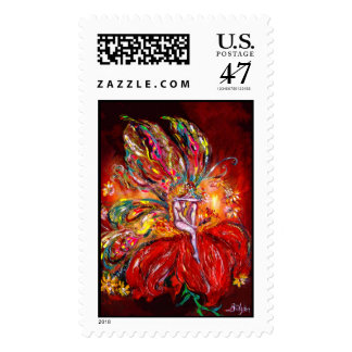 FAIRY IN RED POSTAGE