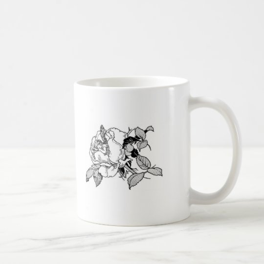 Fairy in Rose Coffee Mug