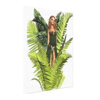Fairy in the Ferns Canvas Print
