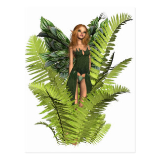 Fairy in the Ferns Postcard