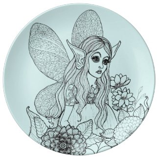 Fairy in the Flowers-Imagination Dinner Plate