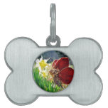 Fairy in the flowers pet name tags