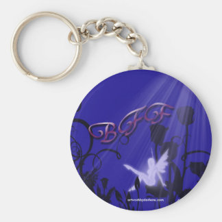 Fairy in the moon light keychain