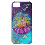 FAIRY IN THE NIGHT Blue Teal Monogram iPhone 5C Cases