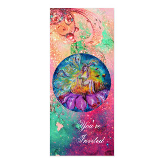 FAIRY IN THE NIGHT ,pink green blue red sparkles Custom Invite