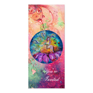 FAIRY IN THE NIGHT ,pink green blue red sparkles Personalized Invites