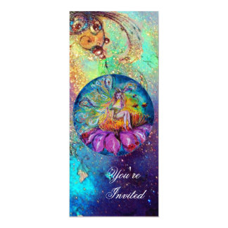 FAIRY IN THE NIGHT ,pink yellow blue red sparkles Card