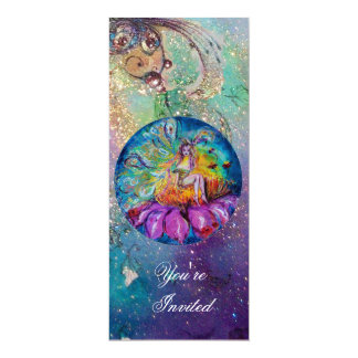 FAIRY IN THE NIGHT ,pink yellow blue red sparkles Custom Announcements