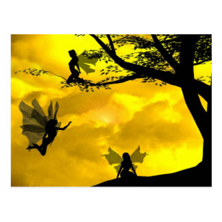 Fairy in the trees postcard