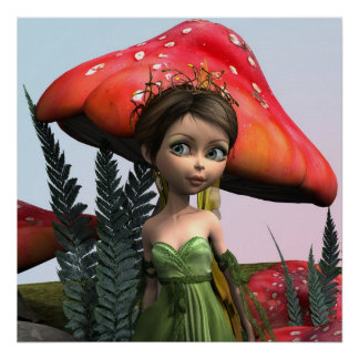 Fairy in Woodland Poster