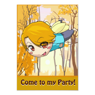 Fairy Invitation - Flying boy