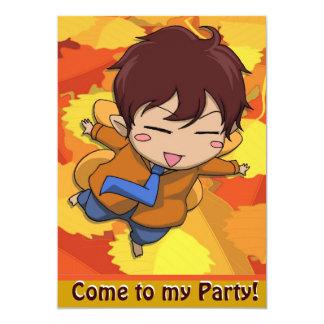 Fairy Invitation - Flying schoolboy