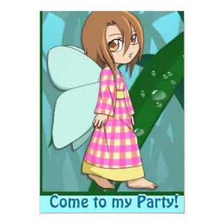 Fairy Invitation - Gingham girl