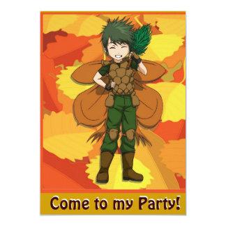 Fairy Invitation - Pine cone fairy