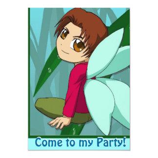 Fairy Invitation - Sitting boy