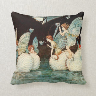 Fairy Island Throw Pillow