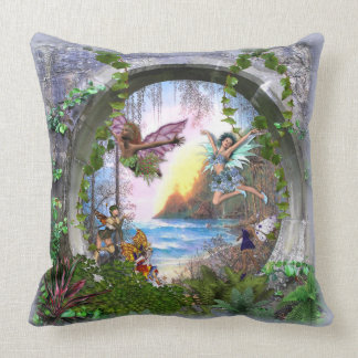 Fairy kingdom throw pillow